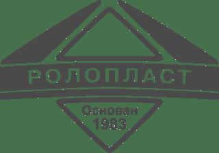 Roloplast logo grayscale